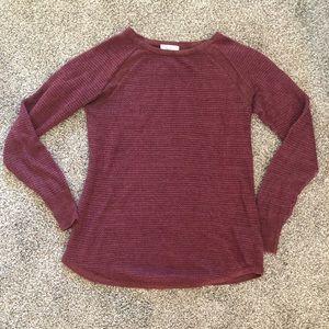 Liz Lange Maternity Maroon Sweater